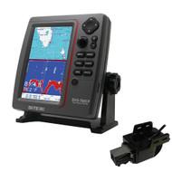 SI-TEX SVS-760CF Dual Frequency Chartplotter Sounder w/Navionics+ Flexible Coverage & Transom Mount Triducer  [SVS-760CFTM]