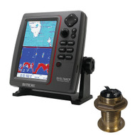 SI-TEX SVS-760CF Dual Frequency Chartplotter/Sounder w/ Navionics+ Flexible Coverage & Bronze 12 Degree Transducer  [SVS-760CFB60-12]