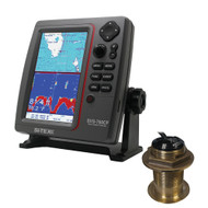 SI-TEX SVS-760CF Dual Frequency Chartplotter/Sounder w/ Navionics+ Flexible Coverage & Bronze 20 Degree Transducer  [SVS-760CFB60-20]