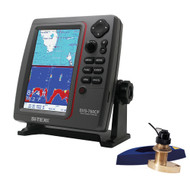 SI-TEX SVS-760CF Dual Frequency Chartplotter/Sounder w/ Navionics+ Flexible Coverage & Bronze Thru-Hull Triducer  [SVS-760CFTH2]