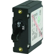 Blue Sea 7212 AC / DC Single Pole Magnetic World Circuit Breaker  -  20 Amp  [7212]