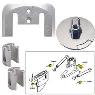 Tecnoseal Anode Kit w/Hardware - Mercury Bravo 2-3 - Magnesium  [20804MG]