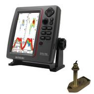 SI-TEX SVS-760 Dual Frequency Sounder 600W Kit w/Bronze Thru-Hull Temp Transducer - 307/50/200T-CX  [SVS-760TH1]