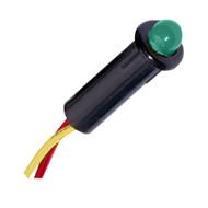 "Paneltronics LED Indicator Light - Green - 120 VAC - 1/4""  [048-016]"