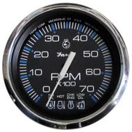 "Faria Chesapeake Black SS 4"" Tachometer w/Systemcheck Indicator - 7,000 RPM (Gas - Johnson/Evinrude Outboard)  [33750]"