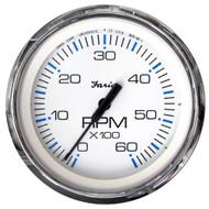 "Faria Chesapeake White SS 4"" Tachometer - 6,000 RPM (Gas - Inboard & I/O)  [33807]"