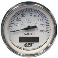 "Faria Chesapeake White SS 4"" Speedometer - 80MPH (GPS)  [33829]"