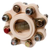 "R & D Flexible Shaft Coupling f/5"" B/W, Hurth - 13HP/100RPM Capacity  [910-009]"