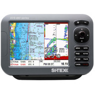 "SI-TEX SVS-880CF-E 8"" Chartplotter/Sounder Combo w/External GPS Antenna & Navionics+ Flexible Coverage Chart Card  [SVS-880CF-E]"