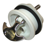 Whitecap T-Handle Latch - Chrome Plated Zamac/White Nylon - Locking - Freshwater Use Only  [S-226WC]