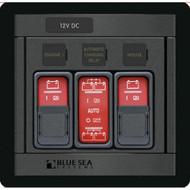 Blue Sea 1147 Remote Control Panel w/(2)2145 & (1)2146 Remote Control Contura Switch  [1147]