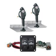 """Lenco 9"""" x 12"""" Standard Trim Tab Kit w/Double Rocker Switch  [15101-104]"""