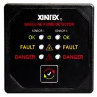 Xintex Gasoline Fume Detector w\/2 Plastic Sensors - Black Bezel Display [G-2B-R]