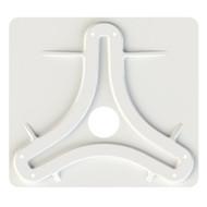 KING Jack\/Omni Antenna Mounting Plate - White [MB8200]