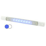 Hella MarineSurface Strip Light w\/Switch - White\/Blue LEDs - 12V [958121011]