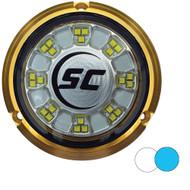 Shadow-Caster SCR-24 Bronze Underwater Light - 24 LEDs - Bimini Blue\/Great White [SCR-24-BW-BZ-10]