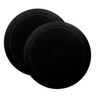 "Majestic Ultra Slim 6"" Marine Speaker - 30W - Pair - Black [SPK60B]"