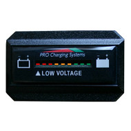 Dual Pro Battery Fuel Gauge - DeltaView Link Compatible - Rectangle - 36V System (3-12V Battery, 6-6V Batteries) [BFGWOVR36V]