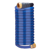 HoseCoil 15' Blue Self Coiling Hose w/Flex Relief  [HS1500HP]