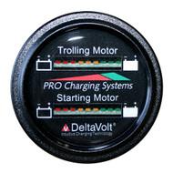 Dual Pro Battery Fuel Gauge - Marine Dual Read Battery Monitor - 12V\/36V System - 15 Battery Cable [BFGWOM1536V\/12V]