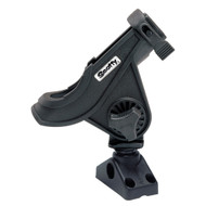 Scotty 280 Bait Caster/Spinning Rod Holder w/241 Deck/Side Mount - Black  [280-BK]