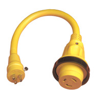 Marinco Pigtail Adapter Plus - 30A Female To 15A Male  [104SPP]