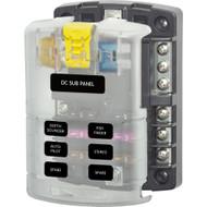 Blue Sea 5025 ST Blade Fuse Block w/Cover - 6 Circuit w/Negative Bus  [5025]