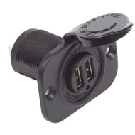 Blue Sea Dual USB Charger Socket - 2 USB Ports w/Watertight Cap  [1016]