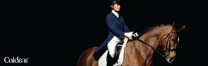 dressage rider wearing Caldene clothing