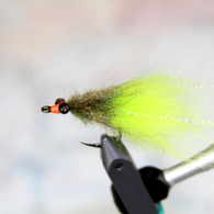 Olive Chartreuse Toad Tarpon Fly