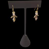 Handmade Swarovski crystal angel earrings for Christmas or daily wear