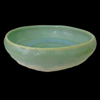 Beachy bowl in seafoam green handthrown pottery