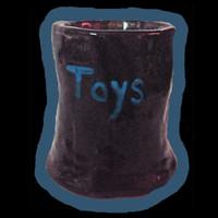 Handmade short vase for kinky toys - or thorny roses