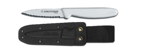 """Dexter Russell Basics 3 1/8"""" Small Bait Chunking Knife With Sheath VB3933"""