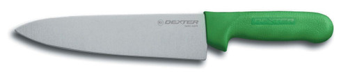 """Dexter Russell Sani-Safe 8"""" Cook's Knife Green Handle 12443G S145-8G-Pcp"""