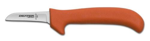 """Dexter Russell Sani-Safe 2 1/2"""" Wide Clip Point Tender/Shoulder/Trim Knife Orange Handle 11253 Ep151Whg-2 1/2Cpt"""