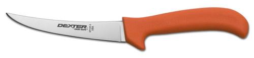"""Dexter Russell Sani-Safe 5"""" Curved Flex Boning Knife Orange Handle 11273 Ep131F-5"""