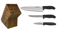 Dexter Russell Cutlery SofGrip Starter Knife Block Set - Black Handles VB4041