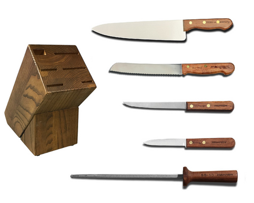 Dexter Russell Cutlery Traditional Essential Knife Block Set VB4046