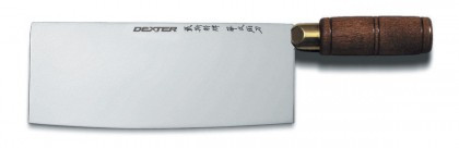"""Dexter Russell Traditional 7"""" x 2 3/4"""" Chinese Chef's Knife Walnut Handle 08140 S5197W"""
