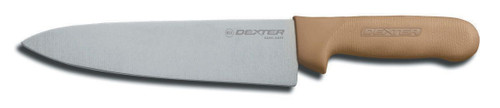 """Dexter Russell Sani-Safe 8"""" Cooks Knife, Tan Handle 12443t S145-8T-PCP"""