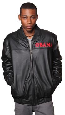 Wilda | Barack Obama Leather Bomber Jacket