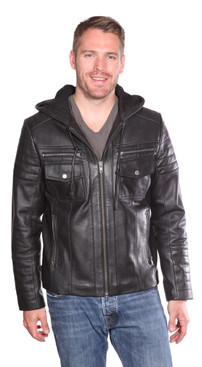 Christian NY | Warden Leather Bomber Jacket