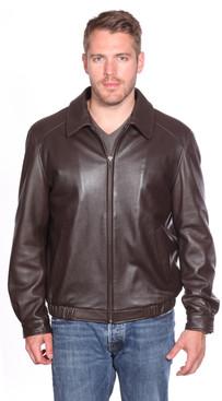 Christian NY | Walden Leather Bomber Jacket