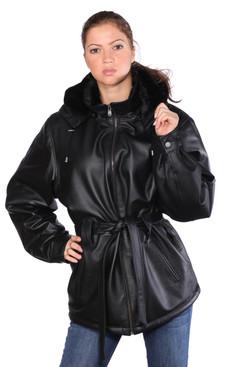 Wilda   Dana Leather Coat