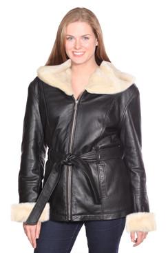 Christian NY   Diana Leather Parka