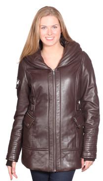 Christian NY   Vivian Leather Coat