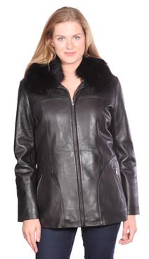 Christian NY   Bree Leather Coat