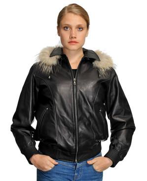 Wilda   Amy Leather Coat