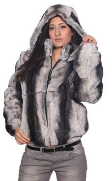 Wilda | Jules Rex Rabbit Fur Coat